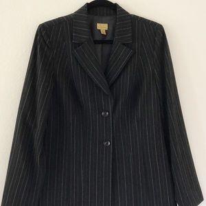 Caslon Black Pin Striped Blazer Size 6